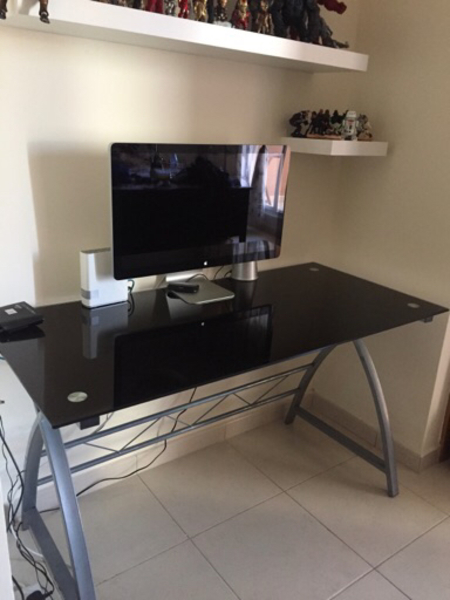 Used Black glass table in Dubai, UAE