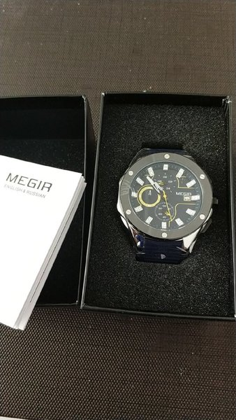 Used Original Megir Sports Watch》Original Box in Dubai, UAE