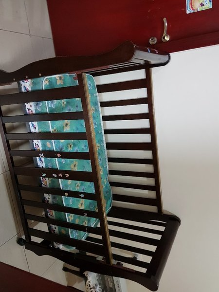 Used MON AMI baby bed with a mattress in Dubai, UAE