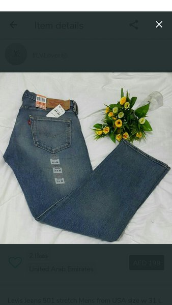 Used Levis Jeans for men size 32 in Dubai, UAE