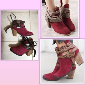 Used Beautifil maroon boots size 35 in Dubai, UAE