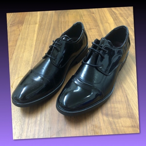 Used MEN PATENT LEATHER SHOES/43 in Dubai, UAE