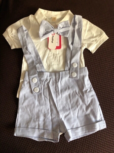 Used Handsome bodysuit & shorts set 6-9 M in Dubai, UAE