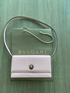 Used BVLGARI leather mini bag - pink in Dubai, UAE