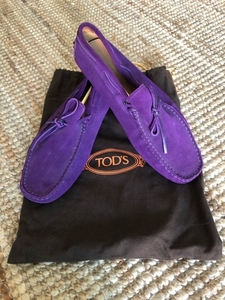 Used Tod's Purple Suede Moccasin shoes 43-44 in Dubai, UAE