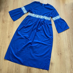 Used Royal blue maxi dress (new) in Dubai, UAE