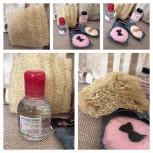 Used Luffa sponge body scrub & bioderma ... in Dubai, UAE
