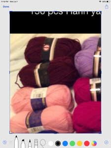 Used 6 pcs yarn burgundy  in Dubai, UAE