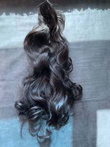 "Used Halo color black hair extension 24"" in Dubai, UAE"