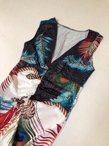 Used Long printed sleeveless dress 👗 medium in Dubai, UAE