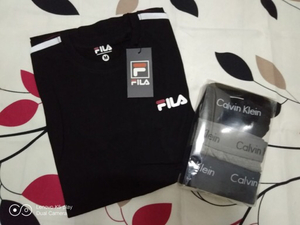 Used T-shirt Fila with boxer briefs Large in Dubai, UAE