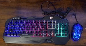 Used Havit gaming keyboard and mouse combo  in Dubai, UAE