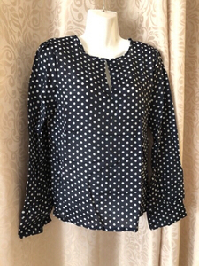 Used Dark Blue white dots blouse size S in Dubai, UAE