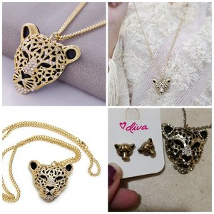 Used Beautiful cheeta necklace and earing set in Dubai, UAE