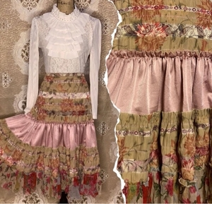 Used Pink Patches A-Line Skirt in Dubai, UAE
