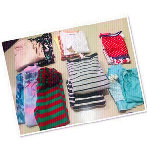 Used 12 PCs mixed clothes for girls 1-2 yrs❤️ in Dubai, UAE