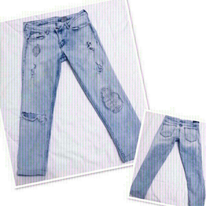 Used H&M Ripped Jeans low waist 💙 in Dubai, UAE