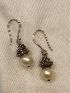 Used Sterling Silver pearls earrings John H in Dubai, UAE