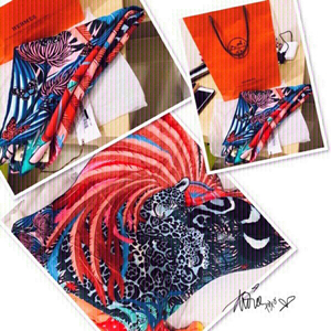 Used Hermès 100% Silk Head/Shoulder Scarf 💙 in Dubai, UAE