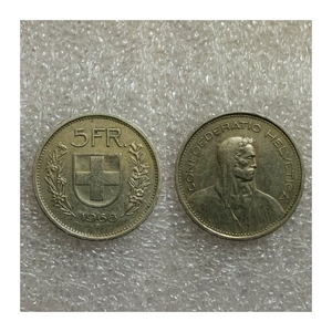 Used Switzerland 5 Francs 1968 in Dubai, UAE