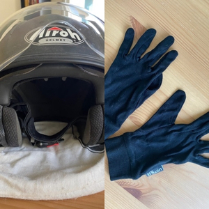 Used Helmet + gloves  in Dubai, UAE