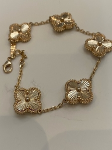 Used Van cleef gold bracelet 5 motifs  in Dubai, UAE