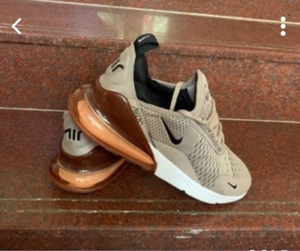 Used Nike Airmax size 44, light brown, new in Dubai, UAE
