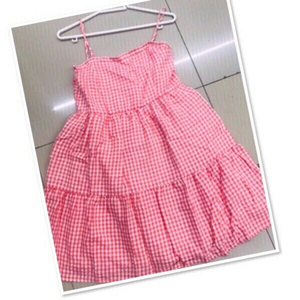 Used Dress Checkered size M/L ♥️ in Dubai, UAE