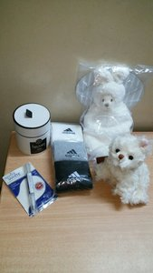 Used Bundle 5pcs (Candle,Socks,2Teddys,White) in Dubai, UAE