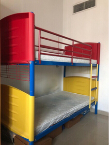 Used colorful bunk bed with mattresses in Dubai, UAE