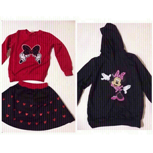 Used Hoodie &(shirt,skirt) size 130(5-6)years in Dubai, UAE