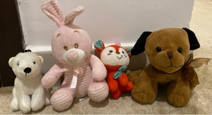 Used 4 stuffed animals toys for kids  in Dubai, UAE
