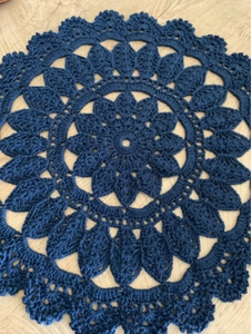 Used Navy blue colour crochet coasters  in Dubai, UAE
