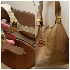 Used Authentic Michael kors bag and flats  in Dubai, UAE
