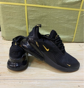 Used Nike Airmax 270 size 42, black/gold in Dubai, UAE