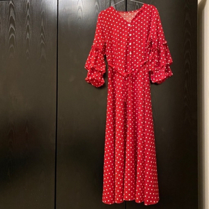 Used Red Polka dot dress size M in Dubai, UAE