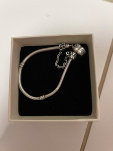 Used Pandora bracelet with safety chain  in Dubai, UAE