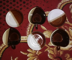 Used Soup Cups with plates.,, in Dubai, UAE