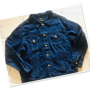 Used Dark Denim jacket size / Large♥️ in Dubai, UAE