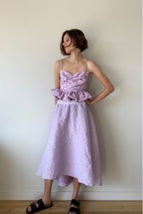 Used Zara lilac limited edition skirt size S/ in Dubai, UAE