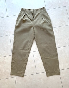 Used MANGO Khaki Green Trousers Size 36 in Dubai, UAE
