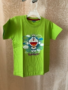 Used Doraemon T-Shirt size 2-3 years green in Dubai, UAE