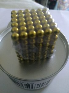 Used 2 box Mini magnetic balls. blue/gold in Dubai, UAE