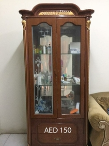 Used Wooden Showcase 150AED (direct msg) in Dubai, UAE