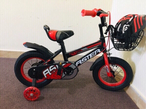 Used Kids Bicycle with helmet  in Dubai, UAE
