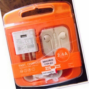 Used Set of Fast charger  & Headphones ♥️ in Dubai, UAE