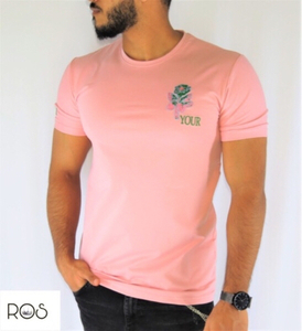 Used Pink TShirt with flower on the side in Dubai, UAE