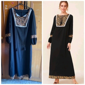 Used Black with pattern dress in Dubai, UAE