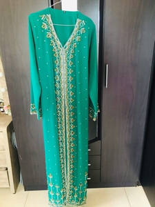 Used Nice Dress used once with belt, L size  in Dubai, UAE