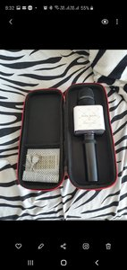 Used New Karaoke microphone w carry box in Dubai, UAE